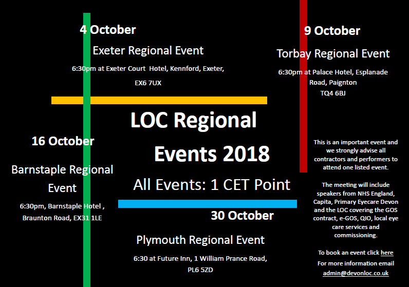 Devon LOC Regional Events 2018